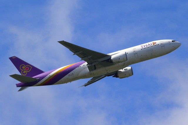 こだしさんが、成田国際空港で撮影したタイ国際航空 777-2D7/ERの航空フォト(飛行機 写真・画像)