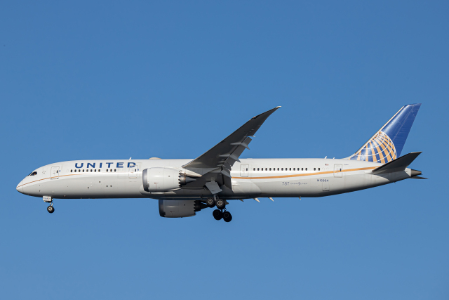 SGR RT 改さんが、羽田空港で撮影したユナイテッド航空 787-9の航空フォト(飛行機 写真・画像)