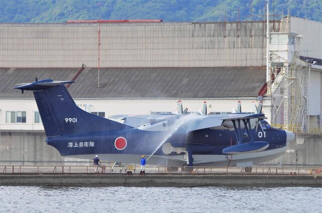 mild lifeさんが、新明和工業甲南工場で撮影した海上自衛隊 US-2の航空フォト(飛行機 写真・画像)