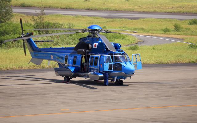 CL&CLさんが、奄美空港で撮影したエアバス・ヘリコプターズ・ジャパン EC225LP Super Puma Mk2+の航空フォト(飛行機 写真・画像)