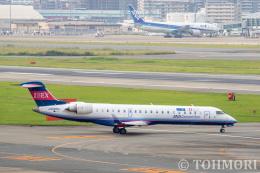 遠森一郎さんが、福岡空港で撮影したアイベックスエアラインズ CL-600-2C10(CRJ-702)の航空フォト(飛行機 写真・画像)