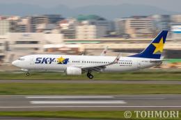 遠森一郎さんが、福岡空港で撮影したスカイマーク 737-86Nの航空フォト(飛行機 写真・画像)
