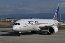 hachiさんが、関西国際空港で撮影したユナイテッド航空 787-8 Dreamlinerの航空フォト(飛行機 写真・画像)
