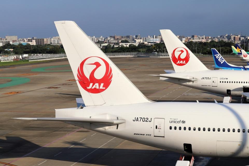 kan787allさんの日本航空 Boeing 777-200 (JA703J) 航空フォト