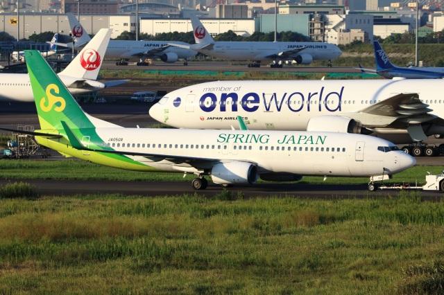 S.Hayashiさんが、羽田空港で撮影した春秋航空日本 737-8ALの航空フォト(飛行機 写真・画像)