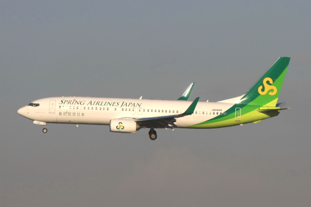 S.Hayashiさんが、成田国際空港で撮影した春秋航空日本 737-8ALの航空フォト(飛行機 写真・画像)