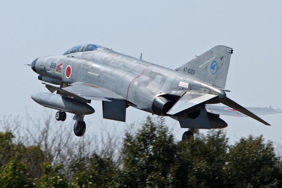 スカルショットさんの航空自衛隊 Mitsubishi F-4EJ Kai Phantom II (47-8328) 航空フォト