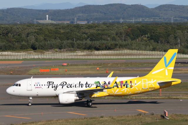 安芸あすかさんが、新千歳空港で撮影したピーチ A320-214の航空フォト(飛行機 写真・画像)