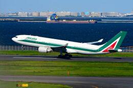 まいけるさんが、羽田空港で撮影したアリタリア航空 A330-202の航空フォト(飛行機 写真・画像)