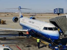 TA27さんが、オヘア国際空港で撮影したメサ・エアラインズ CL-600-2C10(CRJ-700)の航空フォト(飛行機 写真・画像)