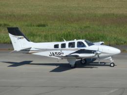宮城の航空ファンさんが、仙台空港で撮影した航空大学校 G58 Baronの航空フォト(飛行機 写真・画像)