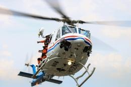 だいふくさんが、名古屋飛行場で撮影した愛知県防災航空隊 412EPIの航空フォト(飛行機 写真・画像)