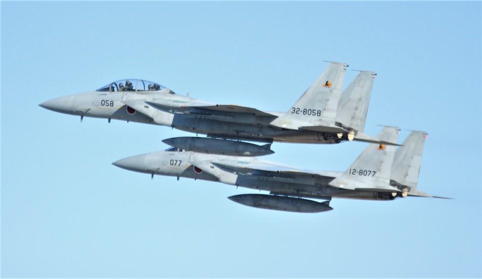こびとさんさんの航空自衛隊 McDonnell Douglas F-15DJ Eagle (32-8058) 航空フォト
