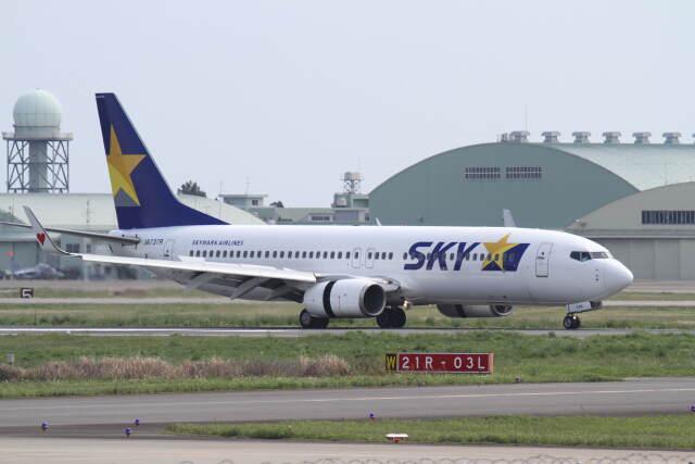 プルシアンブルーさんが、茨城空港で撮影したスカイマーク 737-86Nの航空フォト(飛行機 写真・画像)