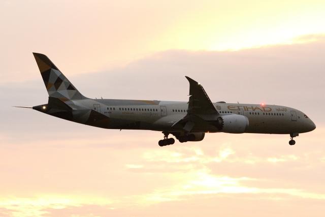 木人さんが、成田国際空港で撮影したエティハド航空 787-9の航空フォト(飛行機 写真・画像)
