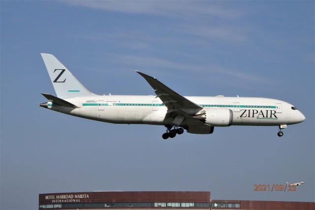 レドームさんが、成田国際空港で撮影したZIPAIR 787-8 Dreamlinerの航空フォト(飛行機 写真・画像)