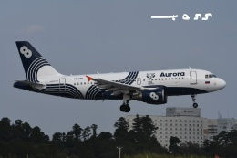 tassさんが、成田国際空港で撮影したオーロラ A319-111の航空フォト(飛行機 写真・画像)