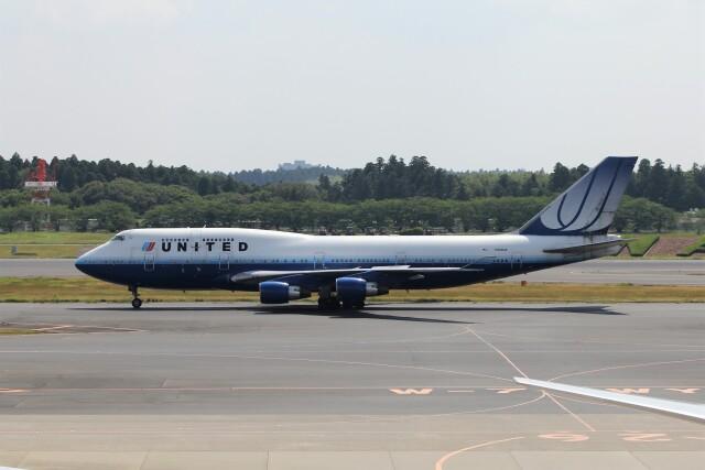 フッ軽の極美さんが、成田国際空港で撮影したユナイテッド航空 747-422の航空フォト(飛行機 写真・画像)