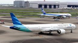 誘喜さんが、羽田空港で撮影したガルーダ・インドネシア航空 777-3U3/ERの航空フォト(飛行機 写真・画像)