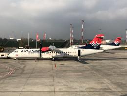 狛犬さんが、ベオグラード・ニコラ・テスラ空港で撮影したエア・セルビア ATR 72-202の航空フォト(飛行機 写真・画像)