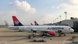 狛犬さんが、ベオグラード・ニコラ・テスラ空港で撮影したエア・セルビア A320-232の航空フォト(飛行機 写真・画像)