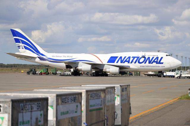 北の熊さんが、新千歳空港で撮影したナショナル・エアラインズ 747-412(BCF)の航空フォト(飛行機 写真・画像)