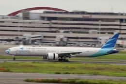 天王寺王子さんが、羽田空港で撮影したガルーダ・インドネシア航空 777-3U3/ERの航空フォト(飛行機 写真・画像)