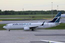 狛犬さんが、モントリオール・ピエール・エリオット・トルドー国際空港で撮影したウェストジェット 737-8CTの航空フォト(飛行機 写真・画像)