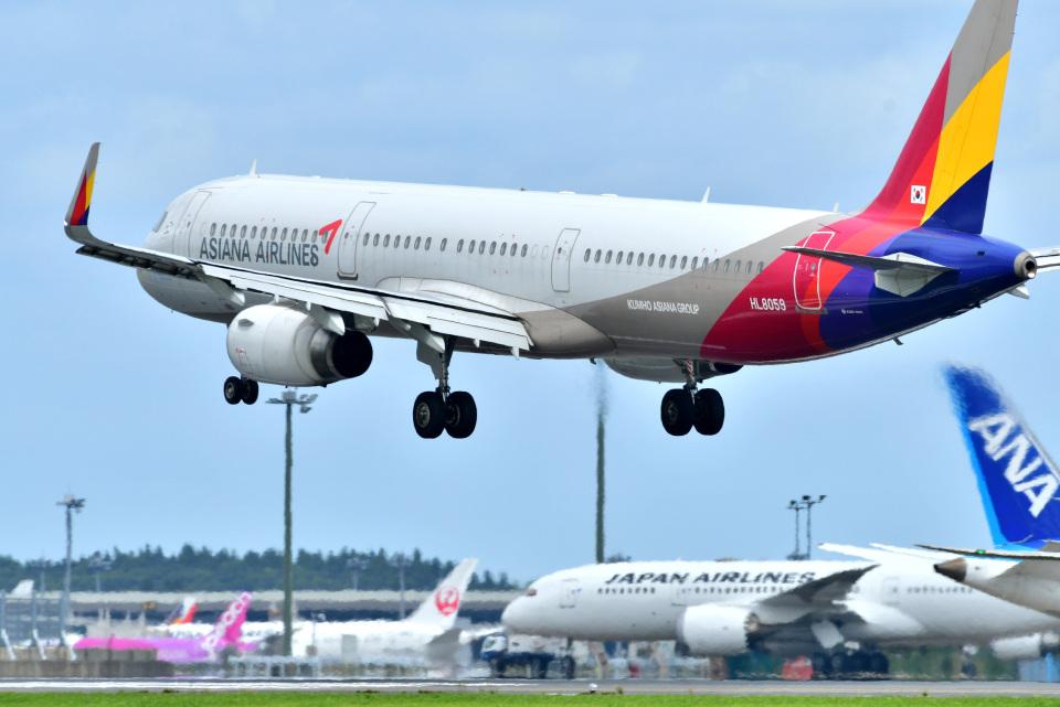 パンダさんのアシアナ航空 Airbus A321 (HL8059) 航空フォト
