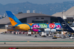 LAX Spotterさんが、ロサンゼルス国際空港で撮影したエミレーツ航空 A380-861の航空フォト(飛行機 写真・画像)