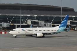 hachiさんが、香港国際空港で撮影したガルーダ・インドネシア航空 737-8U3の航空フォト(飛行機 写真・画像)