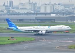 じーく。さんが、羽田空港で撮影したガルーダ・インドネシア航空 A330-343Xの航空フォト(飛行機 写真・画像)