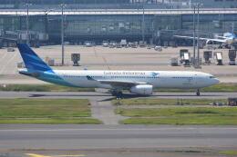 LEGACY-747さんが、羽田空港で撮影したガルーダ・インドネシア航空 A330-343Eの航空フォト(飛行機 写真・画像)