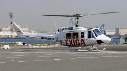 航空見聞録さんが、パシフィコ横浜で撮影した富士重工業 205B(FujiBell)の航空フォト(飛行機 写真・画像)