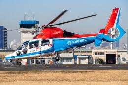 Tatsuya.Kさんが、東京ヘリポートで撮影した川崎市消防航空隊 AS365N3 Dauphin 2の航空フォト(飛行機 写真・画像)