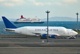 なごやんさんが、中部国際空港で撮影したボーイング 747-409(LCF) Dreamlifterの航空フォト(飛行機 写真・画像)