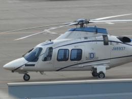 宮城の航空ファンさんが、仙台空港で撮影した日本デジタル研究所(JDL) AW109SP GrandNewの航空フォト(飛行機 写真・画像)