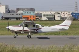 Hii82さんが、八尾空港で撮影した共立航空撮影 T206H Turbo Stationairの航空フォト(飛行機 写真・画像)