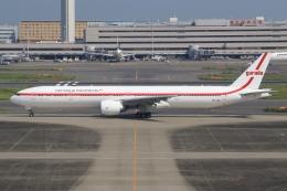 空飛ぶ丸さんさんが、羽田空港で撮影したガルーダ・インドネシア航空 777-3U3/ERの航空フォト(飛行機 写真・画像)
