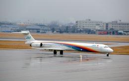 LEVEL789さんが、名古屋飛行場で撮影した日本エアシステム MD-90-30の航空フォト(飛行機 写真・画像)