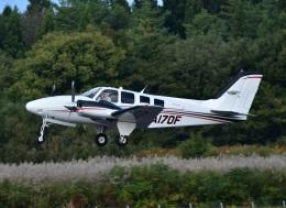 くつおばけくんさんが、秋田空港で撮影したジャプコン G58 Baronの航空フォト(飛行機 写真・画像)