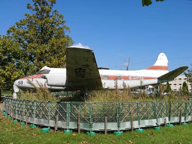 貝塚公園で撮影された貝塚公園の航空機写真