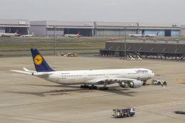 こだしさんが、羽田空港で撮影したルフトハンザドイツ航空 A340-642Xの航空フォト(飛行機 写真・画像)