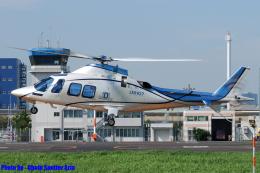 Chofu Spotter Ariaさんが、東京ヘリポートで撮影した日本デジタル研究所(JDL) AW109SP GrandNewの航空フォト(飛行機 写真・画像)