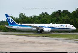 kzm214さんが、チャールストン国際空港で撮影した全日空 787-9の航空フォト(飛行機 写真・画像)
