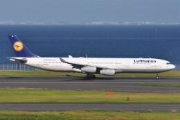 fly A340さんが、羽田空港で撮影したルフトハンザドイツ航空 A340-313Xの航空フォト(飛行機 写真・画像)