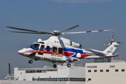 Mizuki24さんが、東京ヘリポートで撮影した国土交通省 地方整備局 AW139の航空フォト(飛行機 写真・画像)