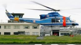 航空見聞録さんが、八尾空港で撮影した大阪府警察 412EPの航空フォト(飛行機 写真・画像)