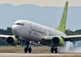 ビッグジョンソンさんが、熊本空港で撮影したソラシド エア 737-81Dの航空フォト(飛行機 写真・画像)