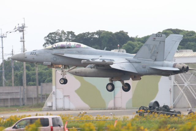 ジョンスミスさんが、築城基地で撮影したアメリカ海軍 EA-18G Growlerの航空フォト(飛行機 写真・画像)